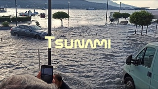 Compilation: Tsunami after the 7.0 earthquake on the border of Turkey and Greece