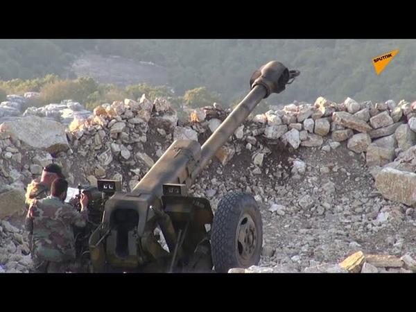 SYRIAN ARMY ARTILLERY DESTROYS JIHADISTS ROCKET LAUNCHERS IN LATAKIA COUNTRYSIDE