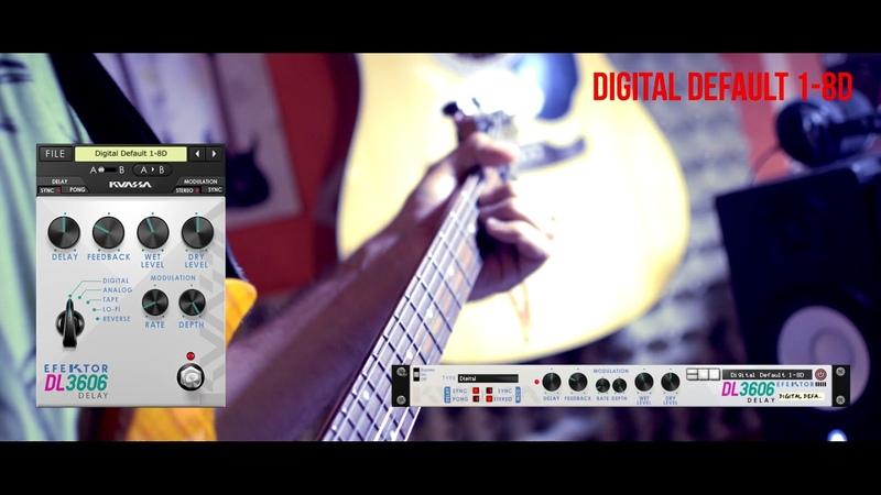 Efektor DL3606 Delay Synth and Guitars Demo 1