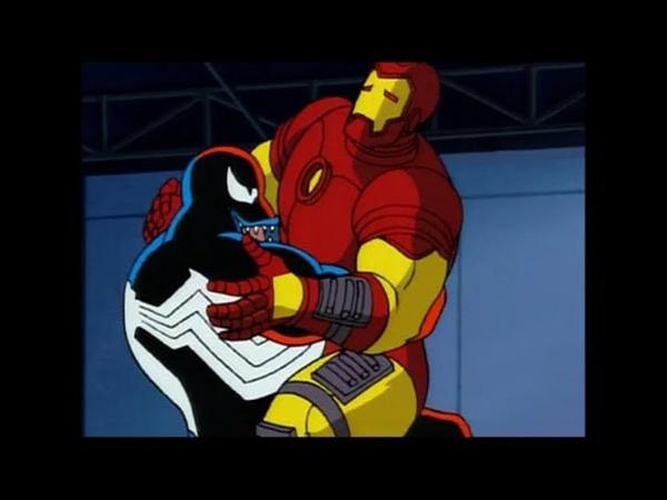 Веном против Железного человека Человек паук 1994 Venom vs Iron man мультфильм 1994