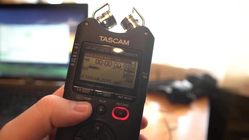 Как подключить петличку к рекордеру Tascam DR-40
