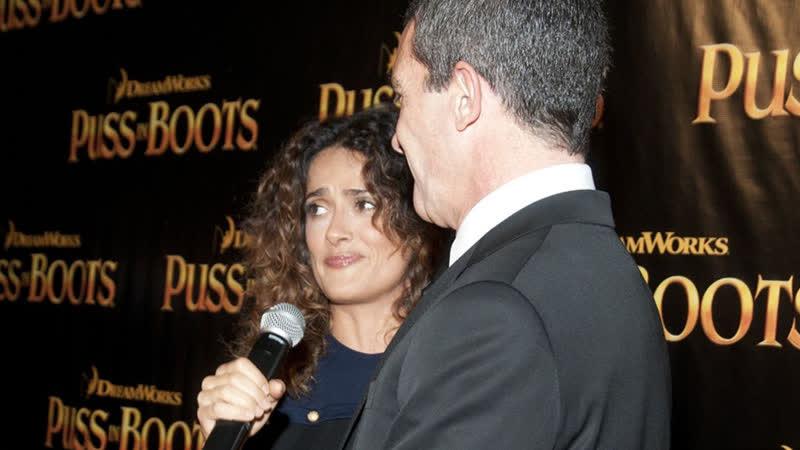 Премьера «Кота в сапогах» в Сан-Франциско | Сальма Хайек и Антонио Бандерас (19/10/2011)