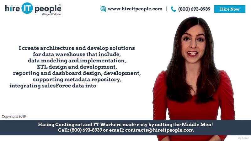 Data Architect Resume Data Architect Profile IT Staffing Services
