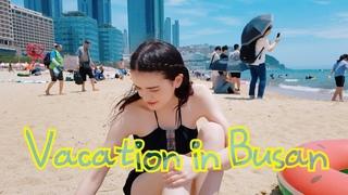 SUMMER VACATION IN BUSAN/VLOG /International Couple(amwf)(JJ)