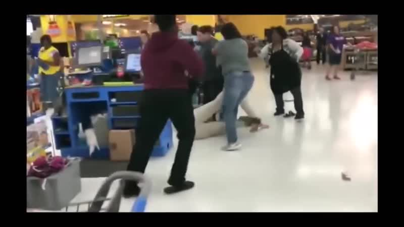 США 2019. Драки в супермаркетах, подборка