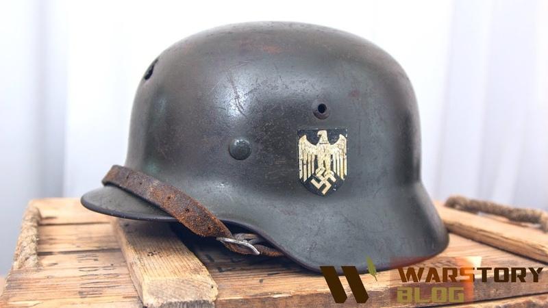 Снаряжение немецкого солдата. Каска и бинокль битые в бою.