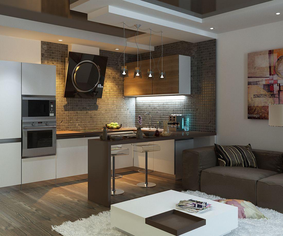 маленькая кухня-студия