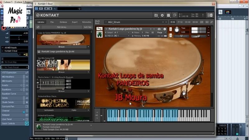 Kontakt Loops de Samba PANDEIROS - Demo