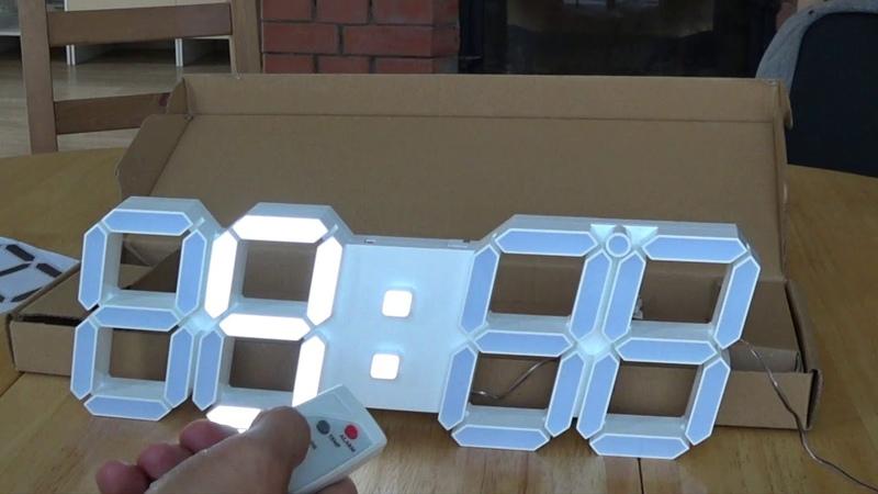Светодиодные часы. LED часы Лут. Светящиеся часы. Настенные часы электронные.