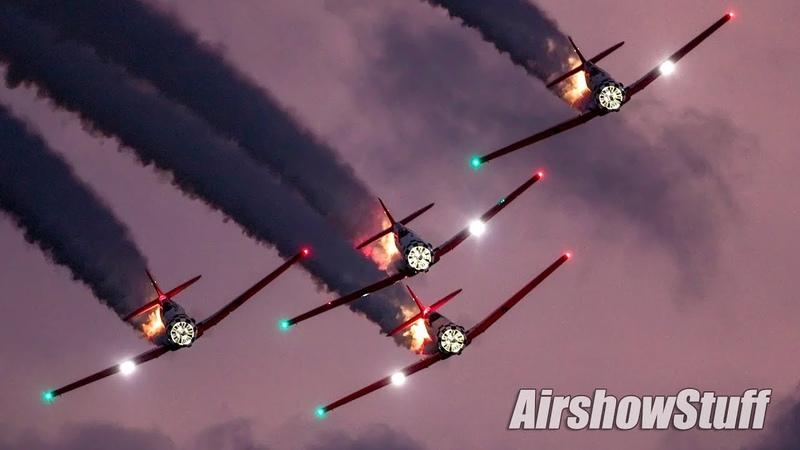 Aeroshell Aerobatic Team Night Show EAA AirVenture Oshkosh 2019