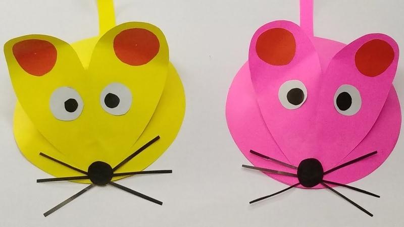 Mainan Tikus Lucu Dari Kertas Origami Kerajinan Tangan Untuk Anak