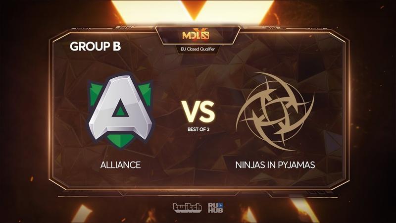 Alliance vs Ninjas in Pyjamas, MDL Chengdu Major Qualifier, bo2, game 2 [4ce]