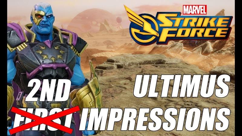 Ultimus Rework First Impressions Gameplay Marvel Strike Force