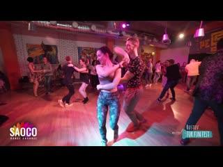 Sergey Bobkov and Katerina Mik Salsa Dancing at Rostov For Fun Fest (Russia), Saturday  (SC)