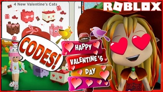 ❤️🐱 Happy Valentine's Day! 2 CODES and Getting the Valentine Kitty! Roblox My Cat Box!