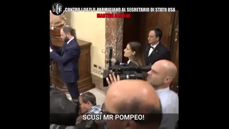 STASERA A LEIENE @AlyMartinelli consegna il parmigiano al segretario di stato USA Pompeo contro i dazi che ucciderebbero il no