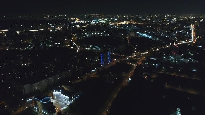 Москва вечером Железногорская 4-я, улица ночью под утро в Москве Железногорская 5-я, улица днём