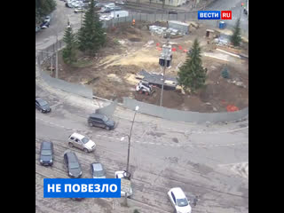 Необычная авария в Свердловской области попала на видео