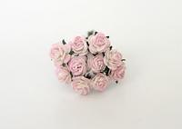 Mini розы 1 см - Св.розовый + белый  5 шт - 38 руб  диаметр розы 1 см высота цветка 0,6см длина стебля 5 см