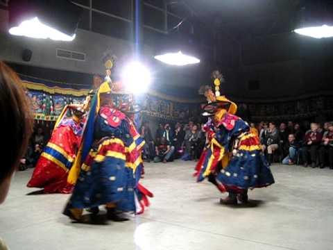 Lama s dance From Ganteng monastery Butan in Moscow