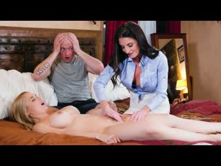 Sarah vandella, silvia saige - parent teacher tag-team (big tits, blonde, brunette, milf, blowjob, threesome, massage)