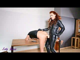 Mistress Lady Renee - Full Leather Strapon Femdom, Strapon, Dildo, Pegging