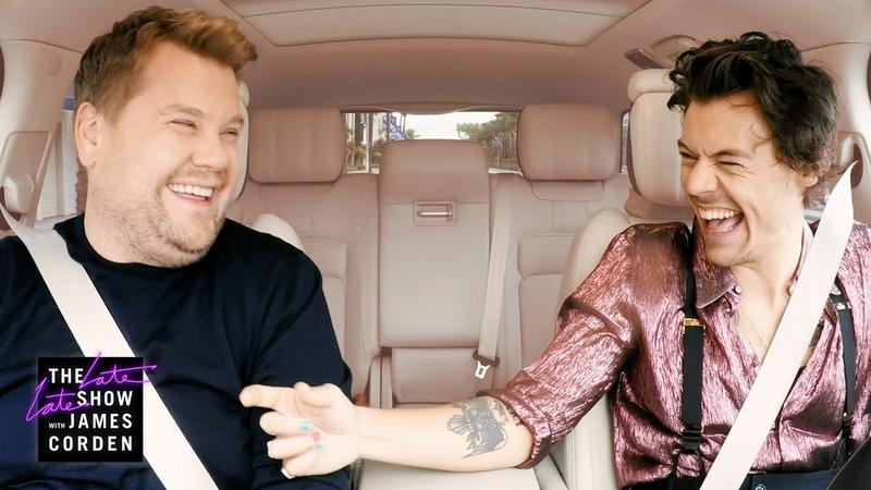 Harry Styles James Corden Carpool to Work
