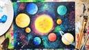 Поделка ко Дню Космонавтики - вариант 5. Рисунок красками 🎨
