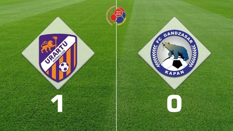 Urartu Gandzasar 1 0 Armenian Premier League 2019 20 Week 19
