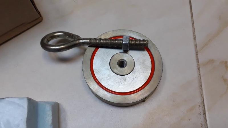 Поисковый Магнит 300 кг Редмаг Брянск распаковка односторонний