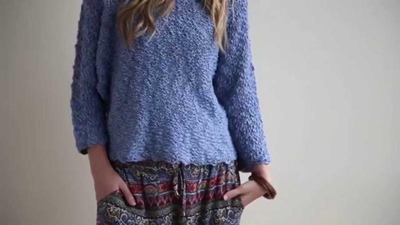 Seattle Dolman Top Knitting Pattern in Tahki Yarns ROSA