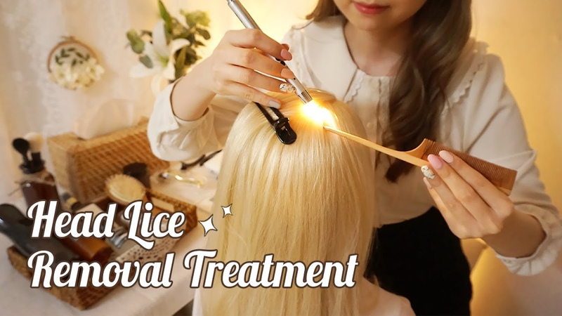 ASMR Sleepy Lice Removal Treatment For You gentle scalp massage hair brushing shampoo