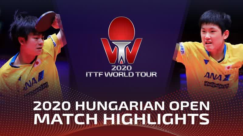 Tomokazu Harimoto vs Yukiya Uda Hungarian Open 2020 Final