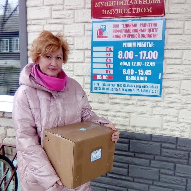 Депутат ЗС Лариса Емельянова привезла в Селивановский район средства индивидуальной защиты