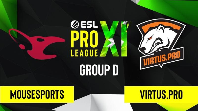 CS GO mousesports vs Vertigo Map 1 ESL Pro League Season 11 Group D