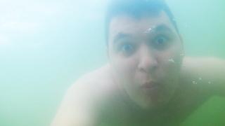 Поплавал на пляже Наутилус в Новосибирске! Спустился с горки.