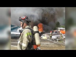 Ан-24 совершил аварийную посадку в Бурятии: погибли двое пилотов