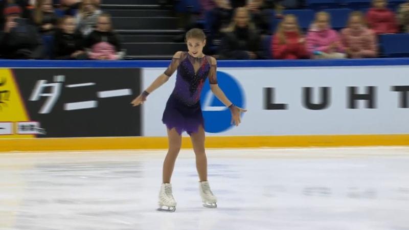 Алёна Косторная золото на турнире Finlandia Trophy 2019 Произвольная программа