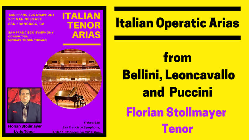 Italian Operatic Arias from Bellini, Leoncavallo and Puccini by Florian Stollmayer