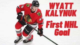 Wyatt Kalynuk #48 (Chicago Blackhawks) first NHL goal 10/04/2021