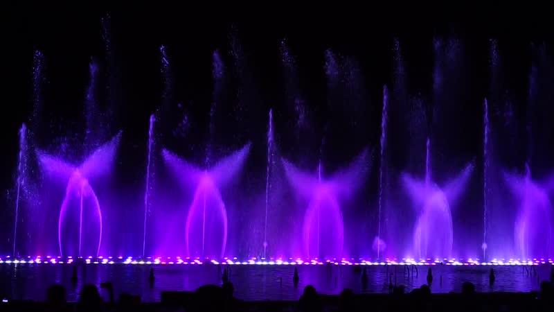 Шоу магия танцующих фонтанов. Протарас. Кипр. ( Калинка)
