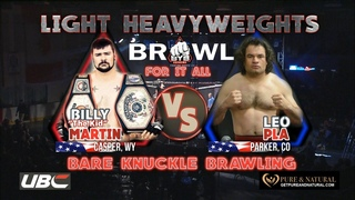 Bare Knuckle Champ Billy The Kid Martin Vs. Leo Ply