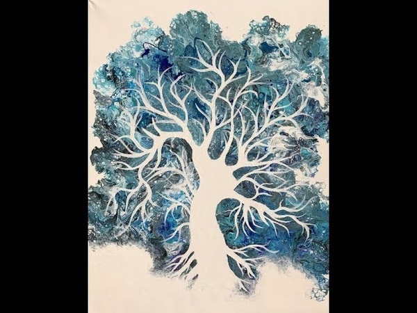 (79) Flip Cup Tree of Life Fluid Painting