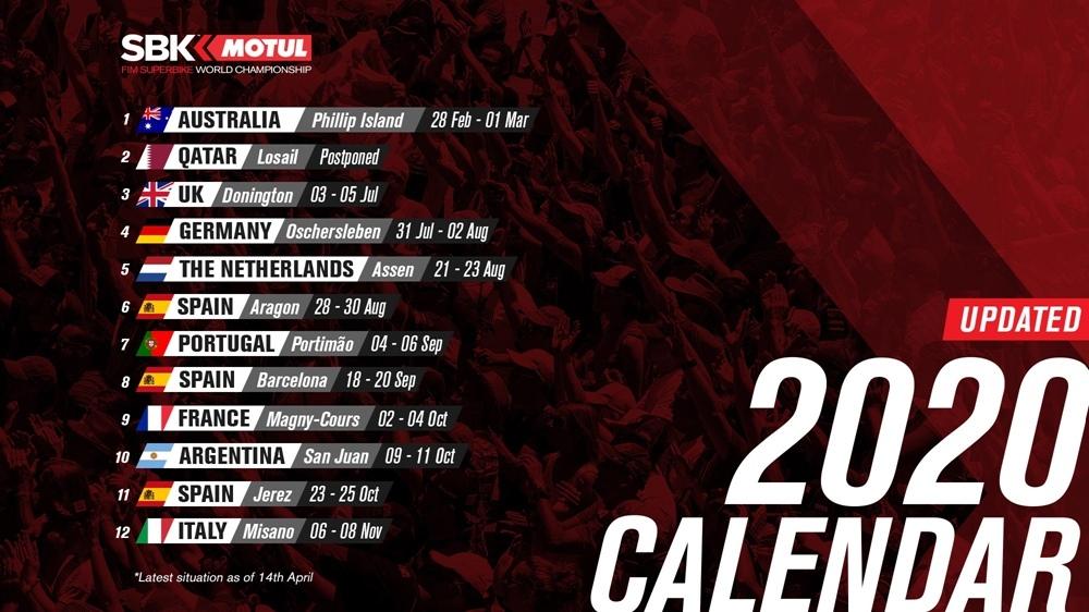 Календарь WSBK 2020. Арагон и Мизано перенесли, Имола отменена