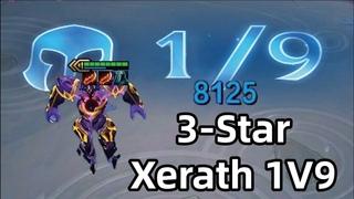 3-STAR XERATH 1V9! 8000 DMG EACH SHOT! | TFT DREAM CHASER SERIES | Teamfight Tactics