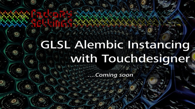 Alembic GLSL instancing with Touchdesigner offset Animation Timing per instanced geometry