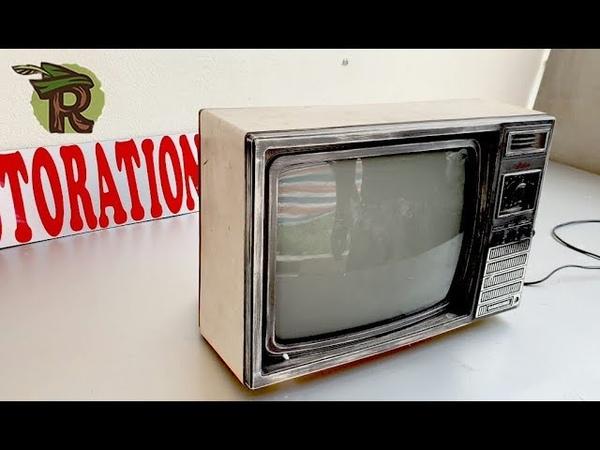 Restoration SAMSUNG TVs produced in 1985 | Antique television restore | Upgrade AV port for TV