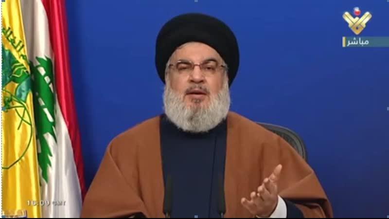 كلمة السيد حسن نصرالله عن التطورات الداخلية في لبنان