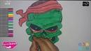 Cómo Dibujar y Colorear a calavera pirata 🌷 Niños🌷 How To Draw Pirate skull 🌷Kids 🌷
