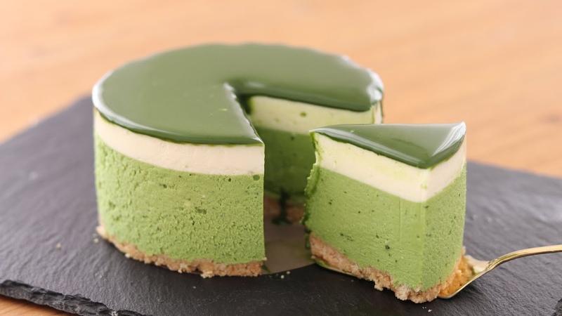 抹茶レアチーズケーキの作り方 No Bake Matcha Cheesecake*Eggless Without Oven HidaMari Cooking